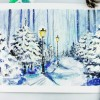 как нарисовать пейзаж красками
