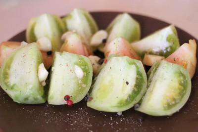 Квашеные зелёные помидоры на зиму