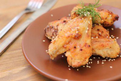 Куриные крылья в лимонно-горчичном маринаде