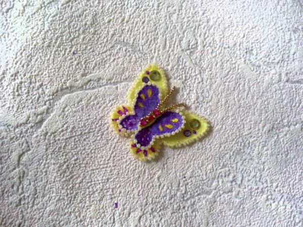 Объёмная бабочка из фетра