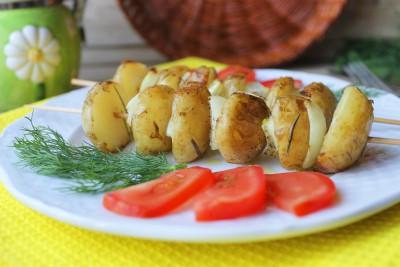 Шашлыки из картофеля в духовке