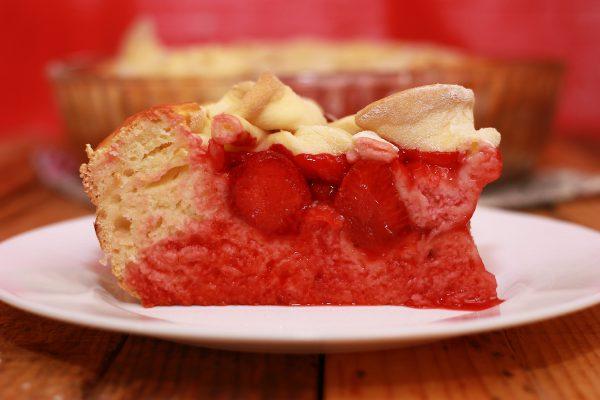 Пирог с клубникой из дрожжевого теста