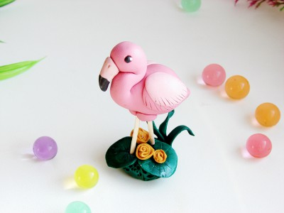 Фламинго из пластилина