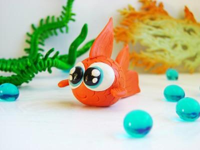 Рыбка из пластилина