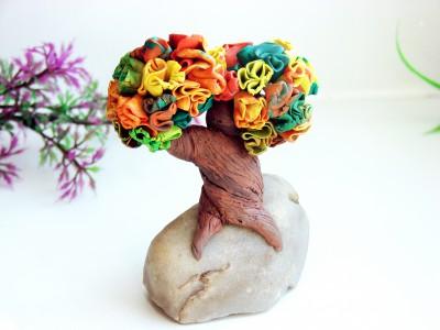 Дерево из пластилина