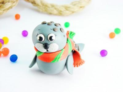 Тюлень из пластилина