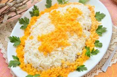 Салат Пасхальное яйцо с курицей
