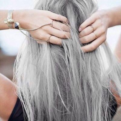Как осветлить седые волосы в домашних условиях