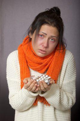 В одной квартире с больным гриппом