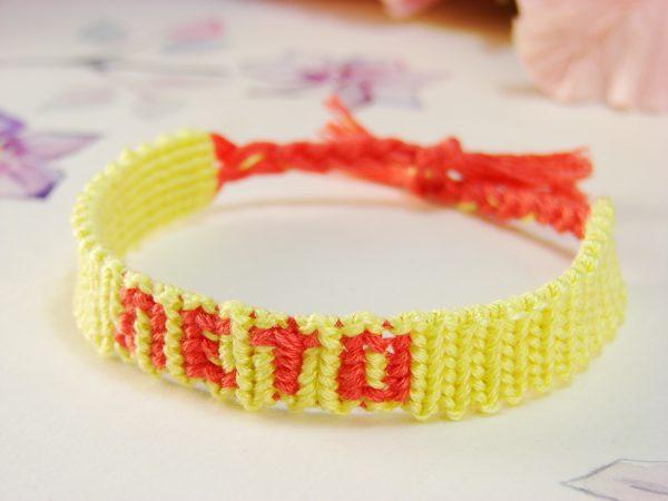 Фенечка прямым плетением