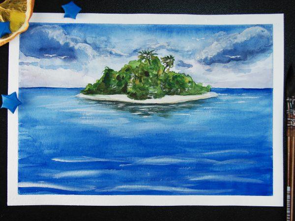 Остров акварелью