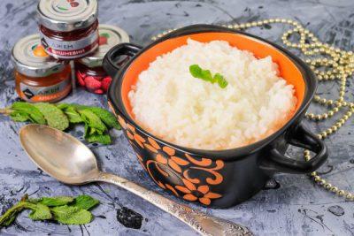 Рисовая каша на воде, приготовленная в мультиварке