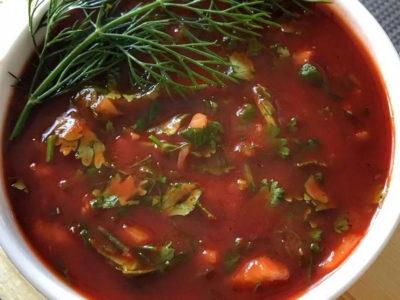 Соус для шашлыка из томатной пасты с кинзой