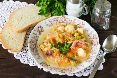 Овощной суп с перепелкой