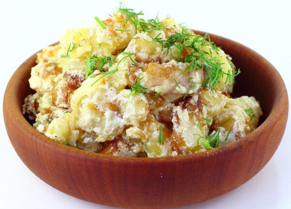 Жареная картошка со сметаной