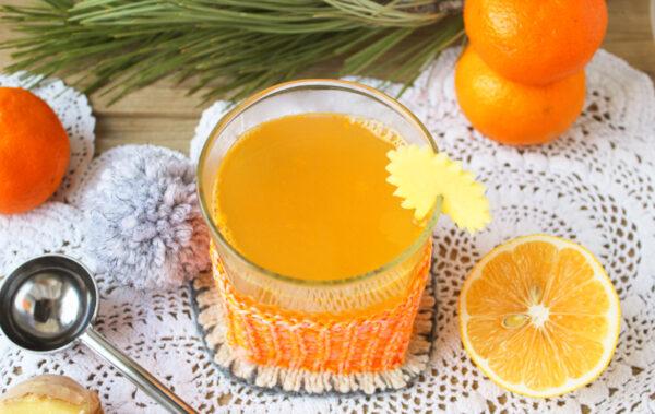 Напиток из облепихи и имбиря с лимоном и апельсином