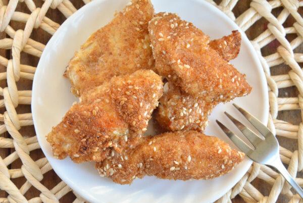 Куриные наггетсы в кунжуте