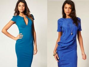 С чем одеть голубое платье