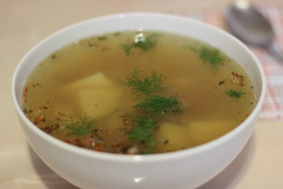 Картофельный суп с бараниной в мультиварке