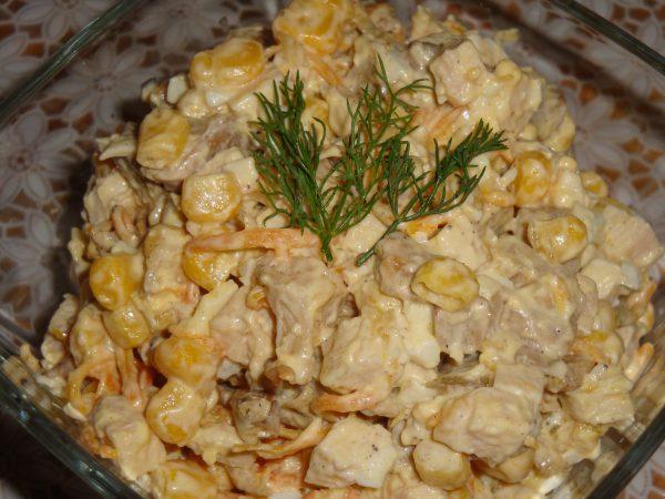 рецепт салата из курицы с грецкими орехами и виноградом