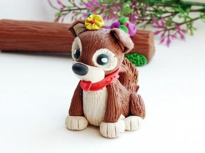 Собака из пластилина