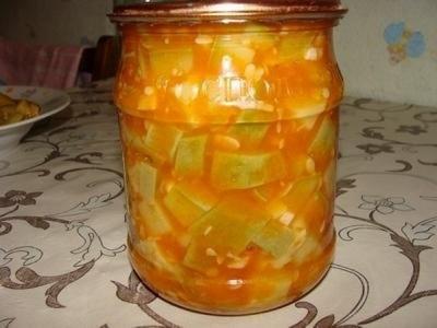 Салат из кабачков с морковью на зиму