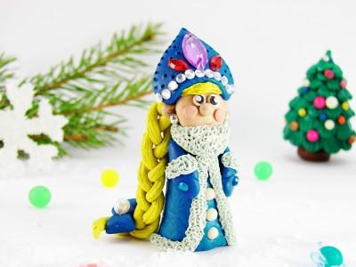 Снегурочка из пластилина