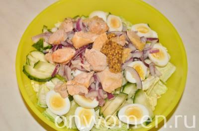 salat-s-pechenyu-treski-i-perepelinymi-yajcami6