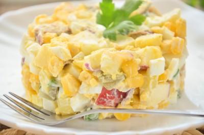 Немецкий картофельный салат с колбасой