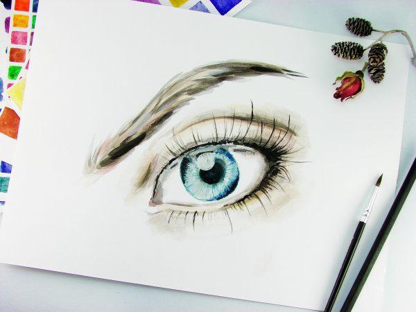 Глаз акварелью