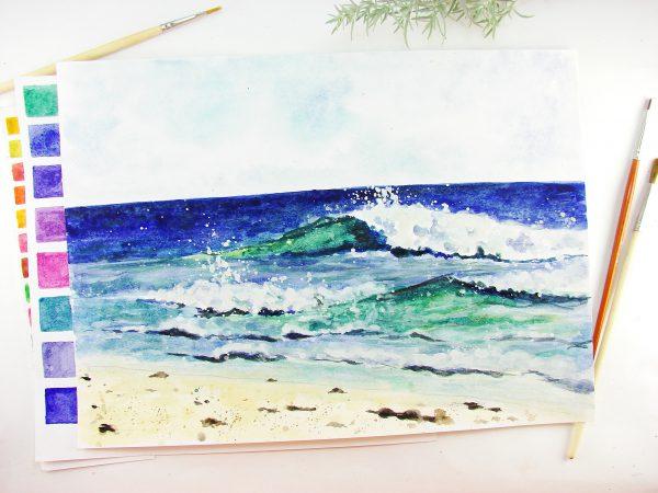 Море акварелью