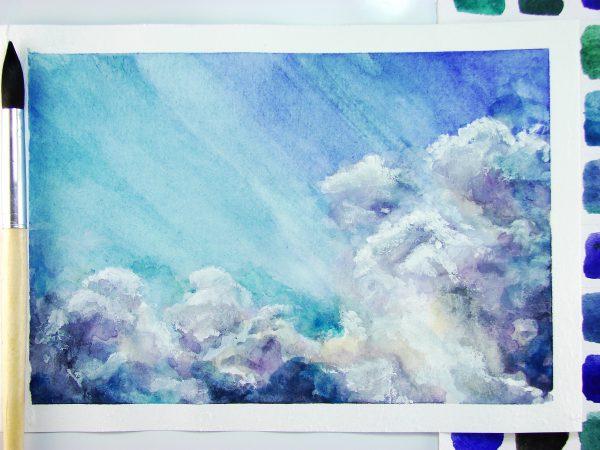 Небо акварелью