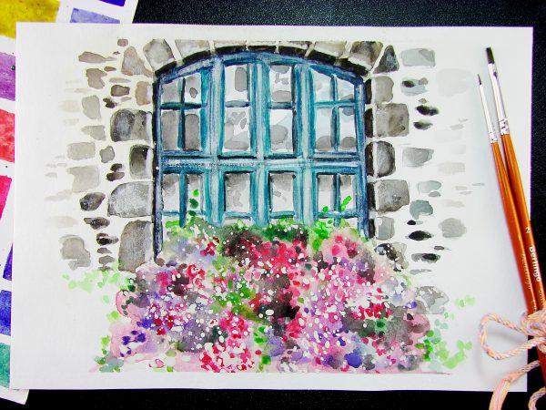Окно акварелью