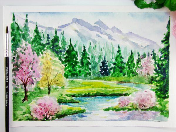 Весна акварелью