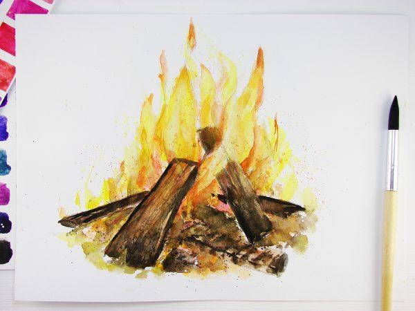 Огонь акварелью