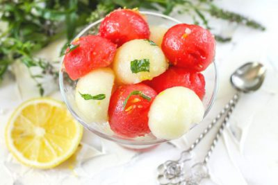 Салат из арбуза и дыни