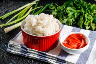 Рис, отваренный для роллов
